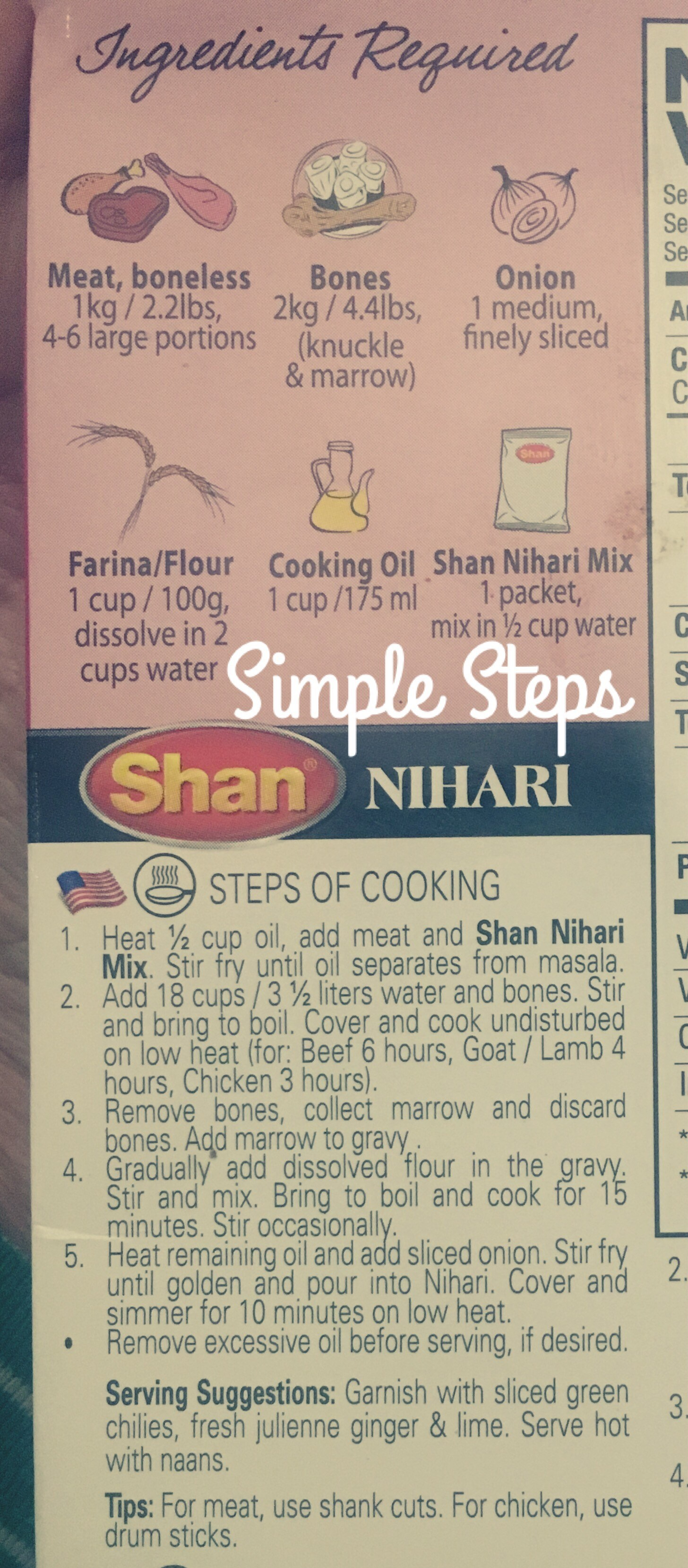 Simple Steps Nihari